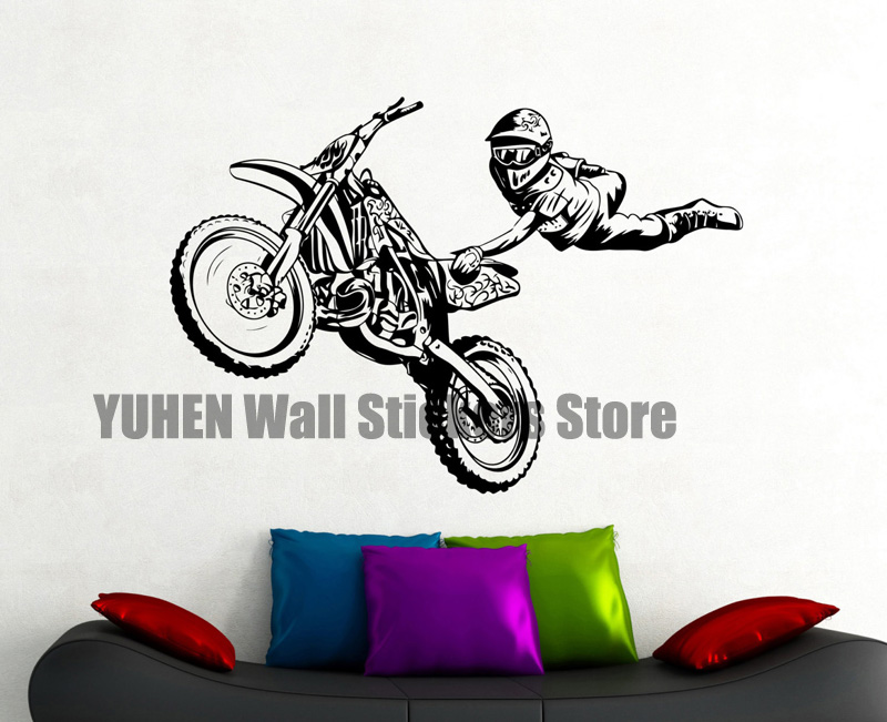 Freestyle Motocross Wall Decal Extreme Sports Sticker Home Interior Design  Boys Room Decor Bedroom Wall Art. Online Get Cheap Motocross Wall Decor  Aliexpress com   Alibaba Group