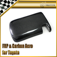 Car styling For Toyota MK4 Supra Carbon Fiber Console Lid Cover RHD Fibre Center Control Trim In Stock