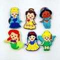 Free shipping 6pcs New Princess PVC Kid's Gift  Shoe Charms/shoe accessories/shoe decorate for shoe/ Wristbands