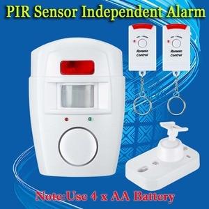 Image 5 - Home Security PIR MP Alert Infrarot Sensor Anti diebstahl Motion Detektor Alarm Monitor Drahtlose Alarm system + 2 fernbedienung controller