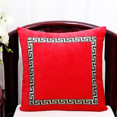 Высококлассное роскошное кружевное бархатное покрытие для подушки Чехол Рождественская Подушка Чехлы для дивана стула декоративная наволочка Подушка - Цвет: Красный