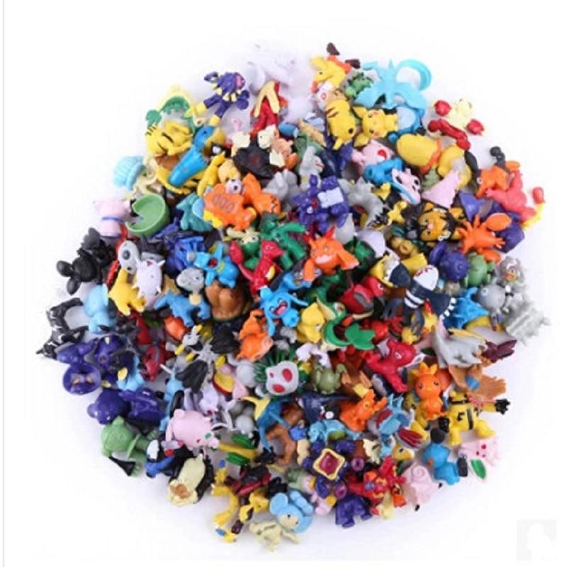 144Pcs/<font><b>lot</b></font> 2-3cm <font><b>Japanese</b></font> <font><b>Anime</b></font> Pokemon <font><b>Figures</b></font> <font><b>Poke</b></font> <font><b>mon</b></font> Pikachu Charizard Figurine Figuras Doll <font><b>lot</b></font> for Kids Party Supply Decor