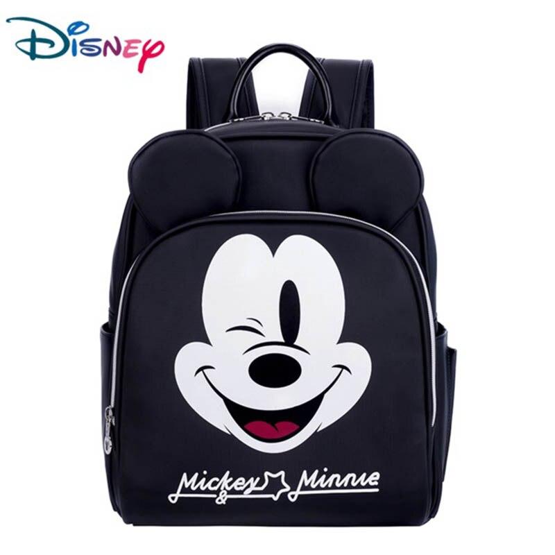 Sac momie noir Disney cartoon Mickey sac à dos imperméable pu femme sac à main tendance