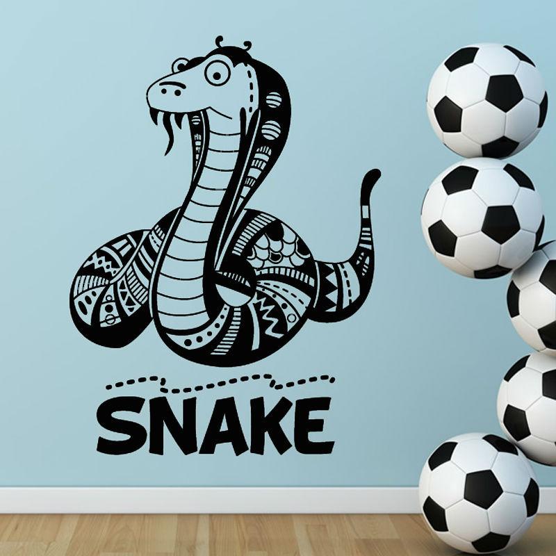 Online Shop PVC Removable Wall Sticker Animal Flower Pattern Cartoon  Flathead Snake With Beard Boyu0027S Room Home Decor | Aliexpress Mobile Part 5