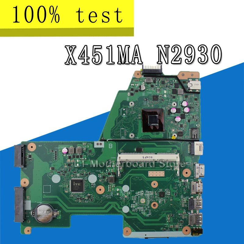 N2930 For ASUS F451M X451M X451MA laptop motherboard REV:2.1 CPU: N2930 100% tested intactN2930 For ASUS F451M X451M X451MA laptop motherboard REV:2.1 CPU: N2930 100% tested intact