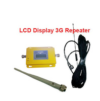 W Antenna Cable Signal LCD Display Function 3G Booster Repeater 3G Kits WCDMA Booster Repeater 2100Mhz