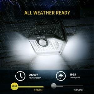 Image 4 - MPOW 30 Đèn LED Sân Vườn Năng Lượng Mặt Trời Cảm Biến Chuyển Động Ánh Sáng Ngoài Trời Đèn 3 Chế Độ Chiếu Sáng 270 Rộng Chống Nước Luz Năng Lượng Mặt Trời đèn Led Para Bên Ngoài