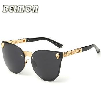 Fashion Luxury Sunglasses Women Brand Designer Skull Sun Glasses For Ladies Retro UV400 Anti-Reflective Female Oculos RS082