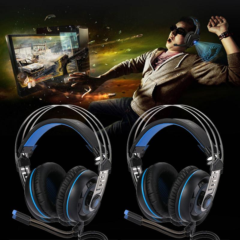 SADES A7 USB Wired Headphone Over Ear Gaming Headset With Mic Microphone Professional Gaming headphone earphone Gamer Boy Gift each g8200 gaming headphone 7 1 surround usb vibration game headset headband earphone with mic led light for fone pc gamer ps4