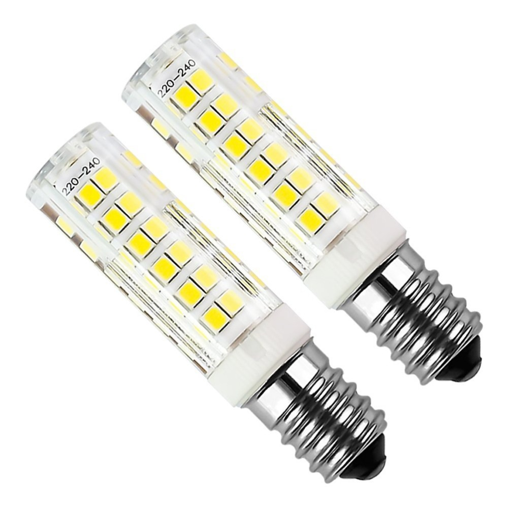 5pcs <font><b>E14</b></font> 5W LED Bulb 430lm 220V Cold White <font><b>6000K</b></font> Hood Replacement Has Non-dimmable Halogen 75 2835smd <font><b>E14</b></font> LED Bi-pin Lights image