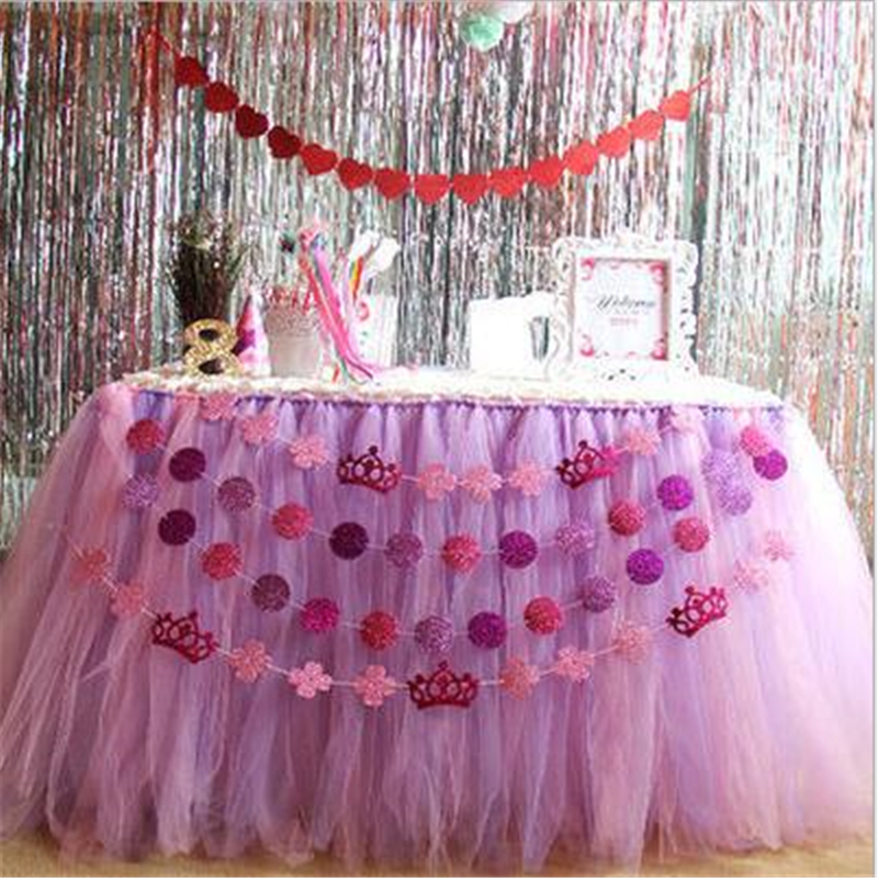 Aliexpresscom Buy Casamento Wedding Decoration Tulle Tutu Table