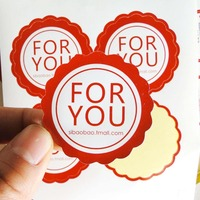 moq 500 pcs Custom logo text paper stickers label print, glossy/matte paper transparent PVC sticker printing