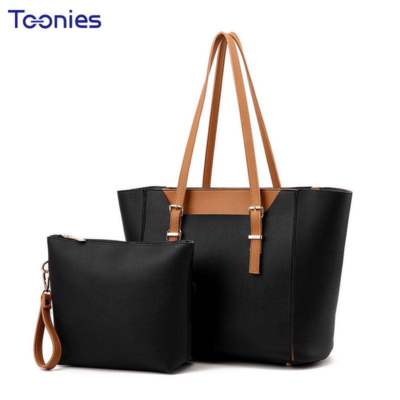 Pochette Sac Femme Casual Women Pu Leather Medium Composite Tote Bag Solid Women Handbags Simple Woman Bags Female Hand Bag