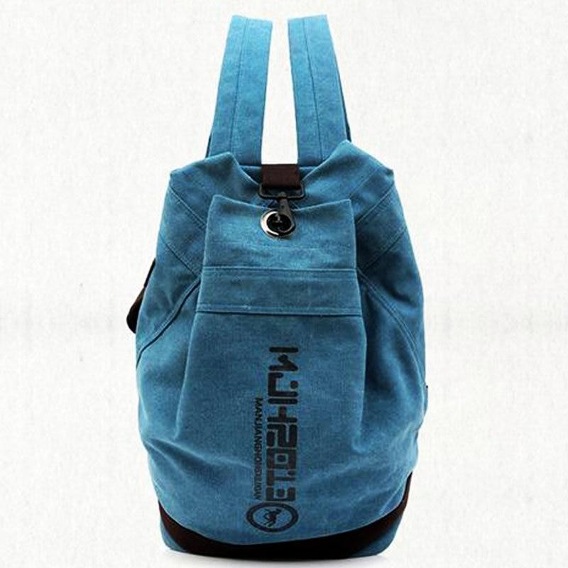 Classic Canvas Sport Bag Men Women Large Capacity Gym Bag Outdoor Camp Backpack Football Basketball Knapack Student School Bag