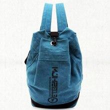 Classic canvas sport bag men women large capacity gym outdoor camping backpack football baskteball knapack student shool