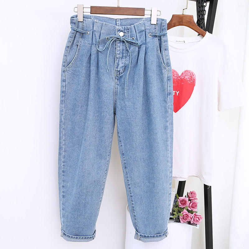 5XL Jeans Women Loose Harem Pants Denim Plus Size Jean Boyfriend Femme Stretch Vintage Mom Jeans Casual High Waist Jeans Q1457