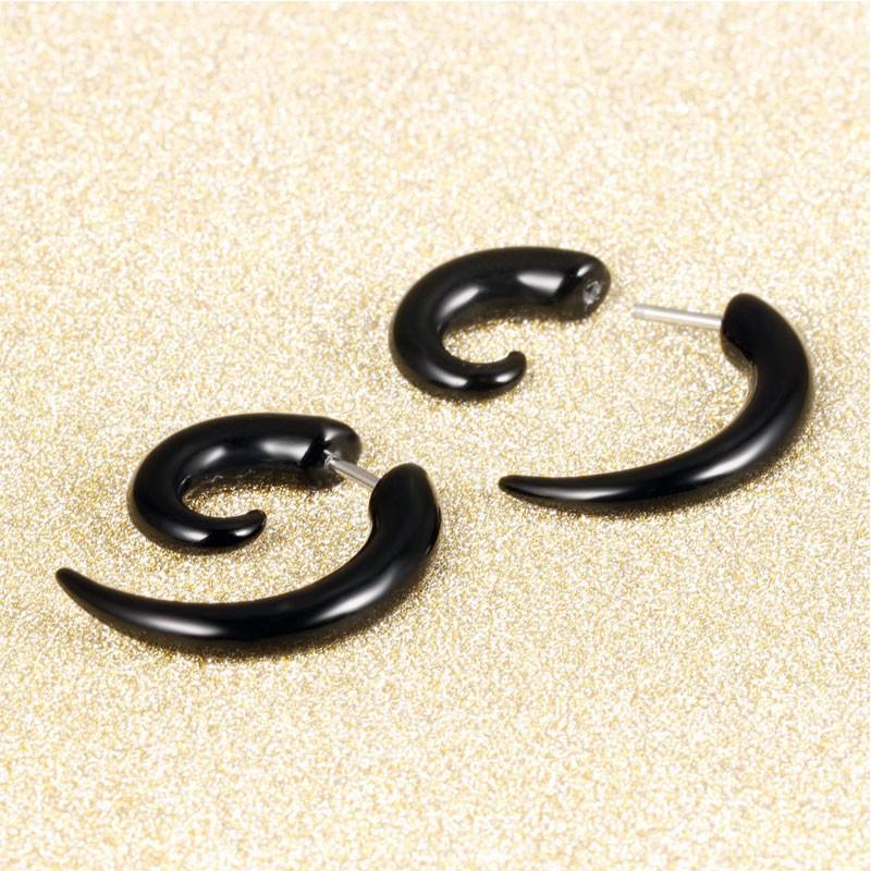 HTB1D7G8KVXXXXbdXpXXq6xXFXXXk - Hog Tooth Black Stud Earrings