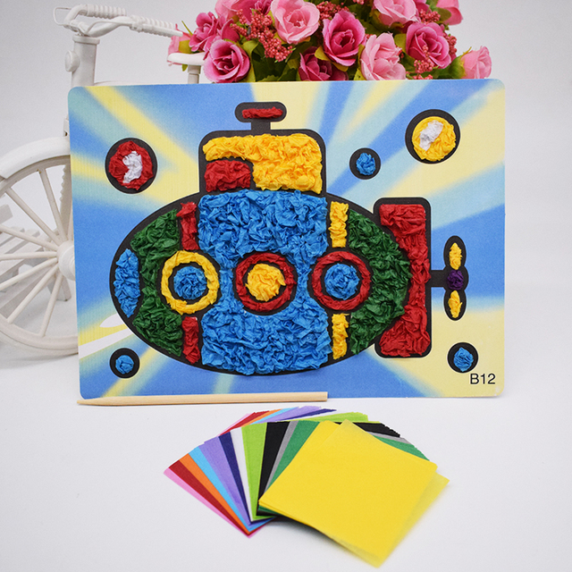 Felt Paper Crafts Material Toys For Children Diy Submarine Kids