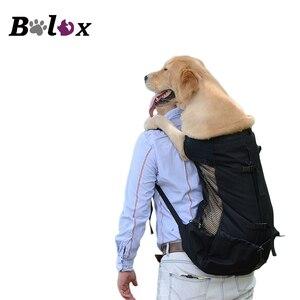 Image 1 - 通気性のペット犬大型犬ゴールデンレトリバーのためのブルドッグリュック調節可能なビッグ犬の旅行用バッグペット製品