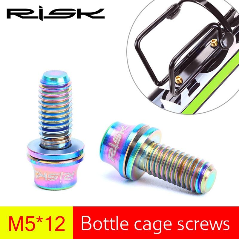 RISKI 2PCS M5 * 12mm titaani-Ti-seospultit polkupyörän - Pyöräily - Valokuva 2