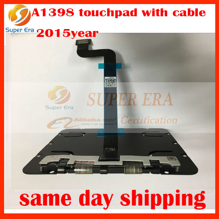 10 pcs/lot D'origine 821-2652-A mouspad avec Flex Câble pour Apple Macbook Pro Retina 15.4