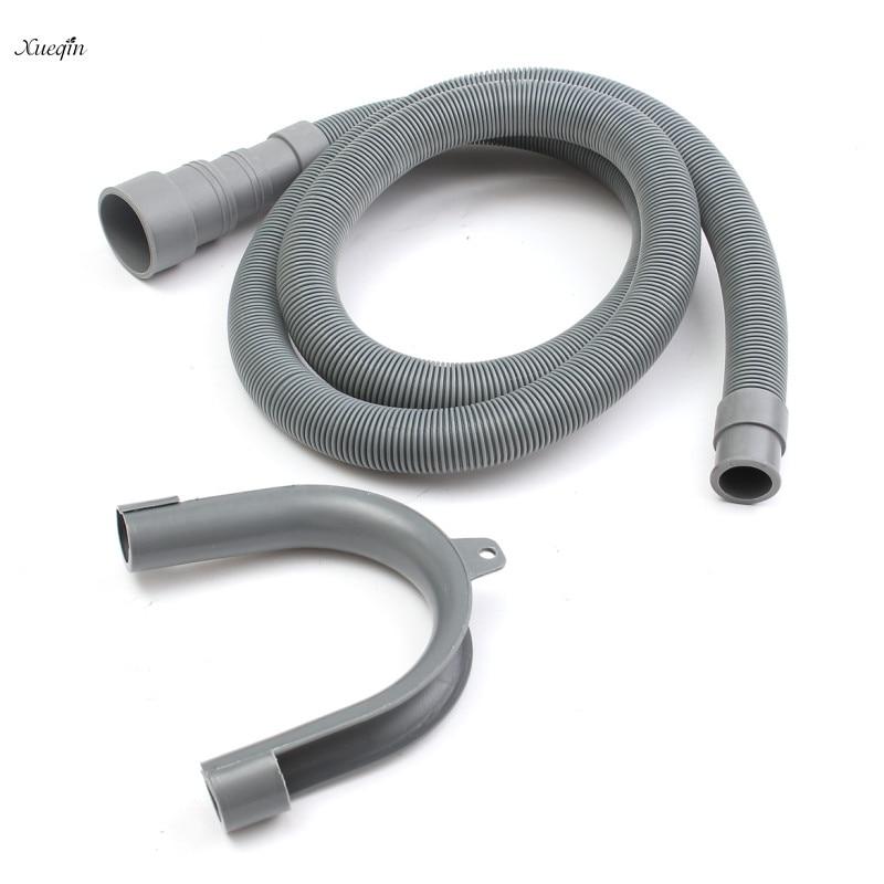 1Pcs 2.5M/3M PVC Washing Machine Dishwasher Drain Waste Hose Extension Pipe With Bracket Set Waschmaschine Ablaufschlauch цена