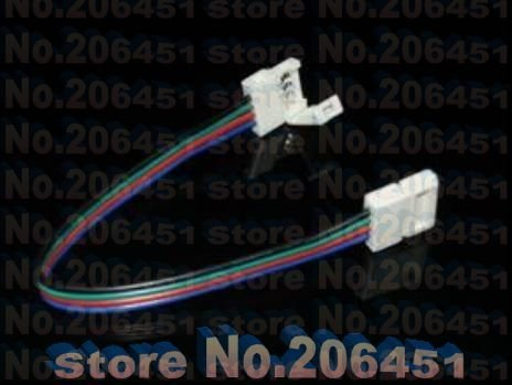 Free Shipping New Middle Connector Cables for 10mm Width 5050 RGB Color Strip No Soldering Connections Strip DIY 10mm solder