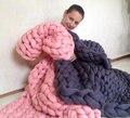 2016 new Super chunky yarn, Wool blanket, Knitted blanket, Blanket  Bulky blanket  Chunky knit blanket,