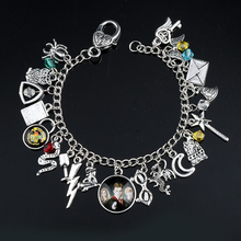 Fashoin DIY Bracelets for Women H P Movie Jewelry Pendants Charm Chain Bangles&Bracelets souvenir Gift a bracelet Female