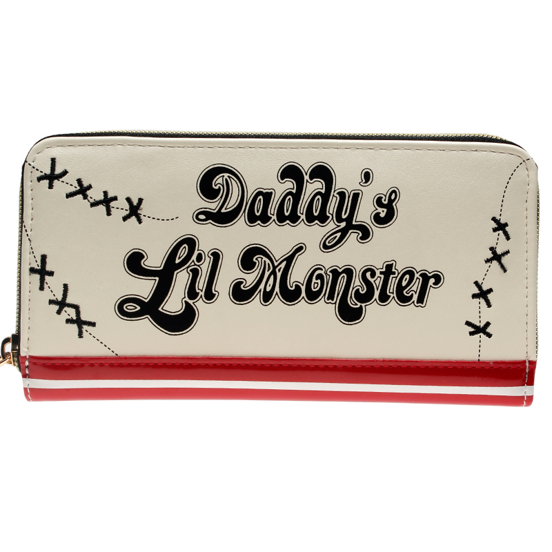 03ca77df4f8c Suicide Squad Harley Quinn Daddys Lil Monster Jrs Zip Around Wallet DFT-1888