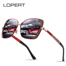 LOPERT BRAND DESIGN Cat Eye Polarized Sunglasses Women Driving Sun Glasses Female Gradient Shades Oculos Feminino