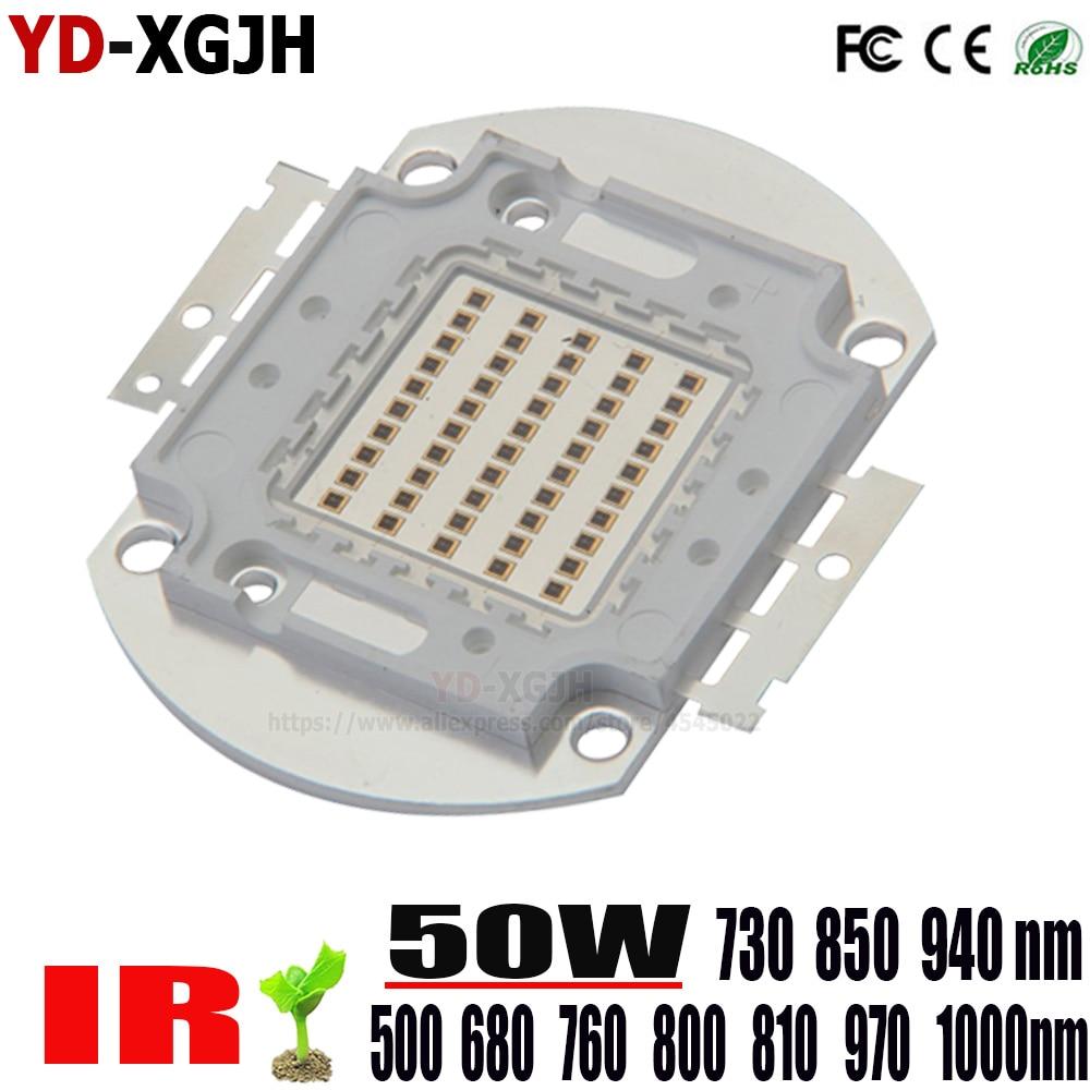 Haute puissance puce LED 730nm 940nm 500-685-760-800-805-970-1000NmIR infrarouge 50 W émetteur lumière perle COB Vision nocturne CCTV caméra