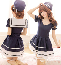 japanese student cosplay dress blue maid dress for womens sailor costume sexy japan student costume