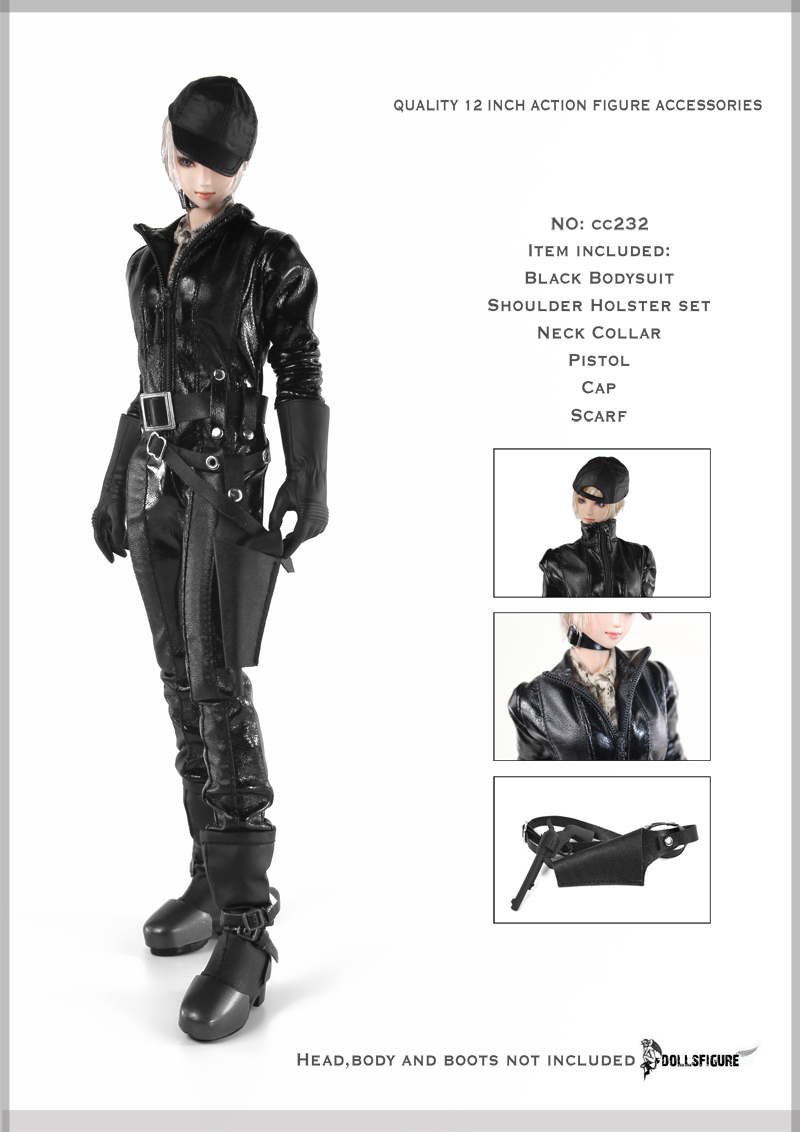 1/6 scale figure doll clothes female black clothing for 12 Action figure doll accessories.not include doll and other No176 new sexy vs045 1 6 black and white striped sweather stockings shoes clothing set for 12 female bodys dolls