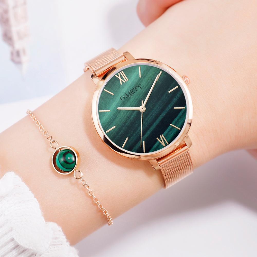 Gaiety Brand Luxury Bracelet Women Watches Metal Belt Dress Ladies Quartz Wrist Watch Fashion Creative Sports Clock 2019 New