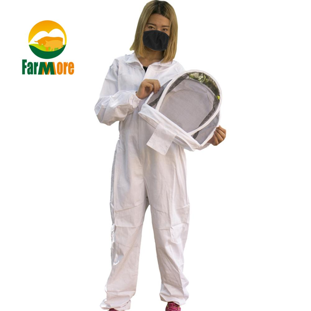 Costume Anti-abeille blanc coton apiculteur complet robe de protection Camouflage apiculture vêtements outils abeille costume combinaisons équipement