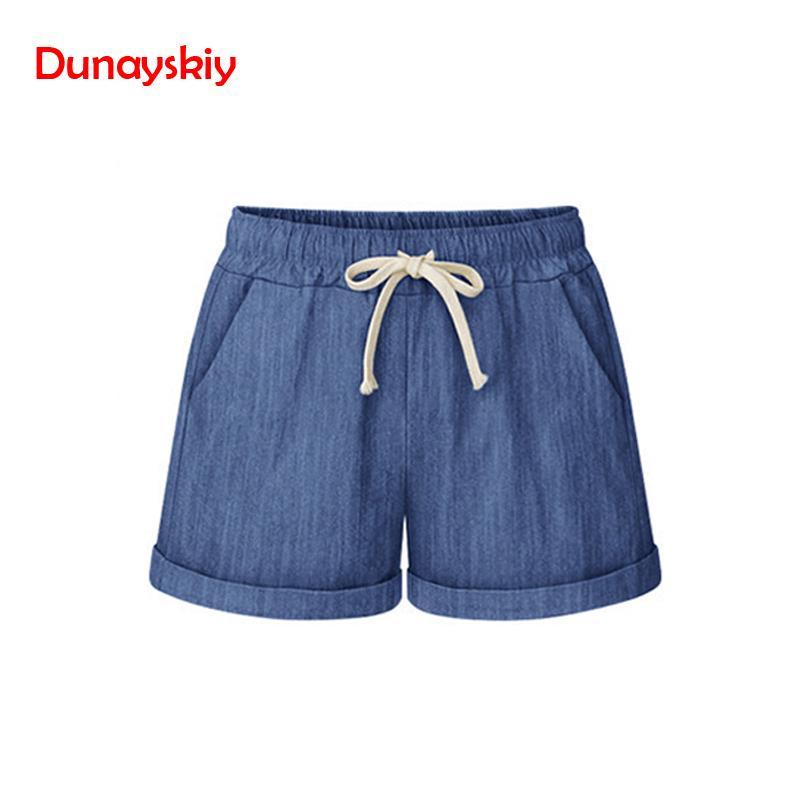 2019 Summer Cotton   Shorts   Women Fashion Casual Large Size   Short   Pants Loose Slim Female   Shorts   Plus Size M-6XL