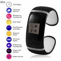OXA L12S Uomini Donne Amanti Digitale Intelligente Banda Sport Wristband MP3 Musica Braccialetto Regali Tecnologici Mobile Anti Perso Bluetooth Doppio