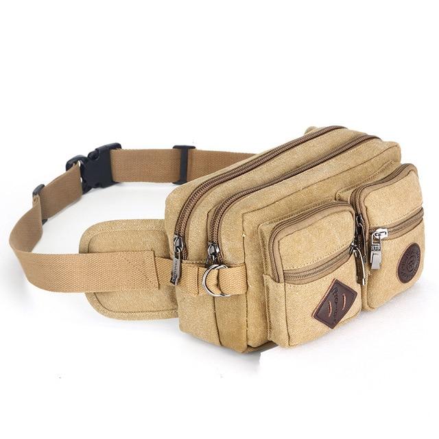 0918 Canvas purse Fashion Shoulder Bag Casual Women's chest Bag Man And Women Waist Bag