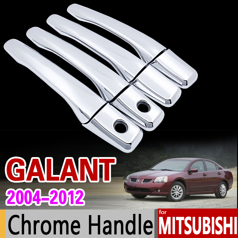 for Mitsubishi Galant 2004 - 2012 Chrome Door Handle Cover Trim Set 2005 2006 2007 2008 2009 2010 2011 Accessories Car Styling for suzuki splash 2007 2014 chrome handle cover trim set of 4door 2008 2009 2010 2011 2012 2013 accessories sticker car styling
