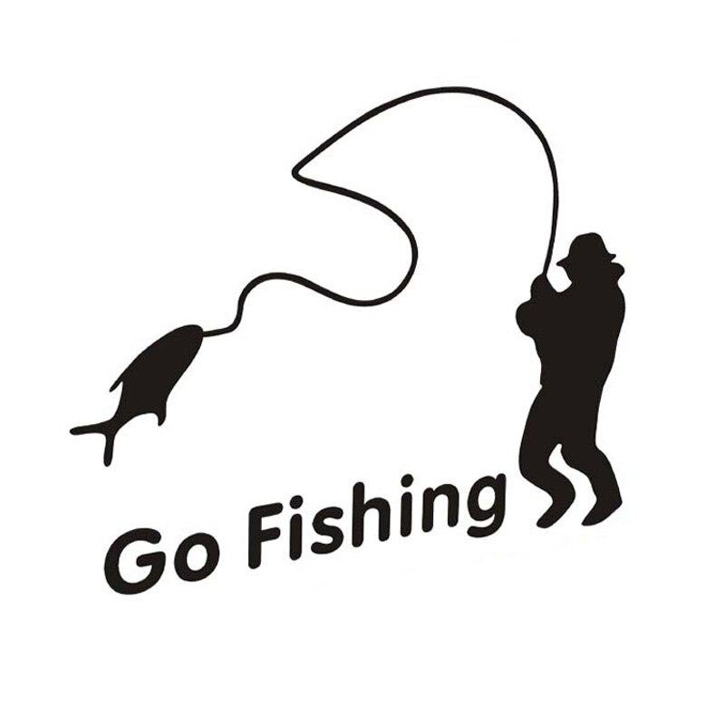 Buy outdoor sports fishing go fishing for Fishing car stickers