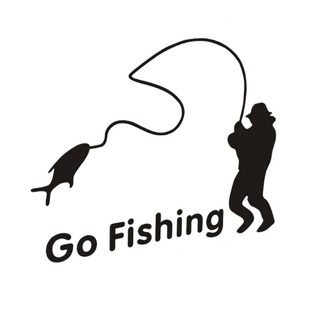 Outdoor sports fishing go fishing stickers car accessories for How to go fishing