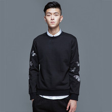 The New Spring Sweatshirt Men Butterfly Embroidery Men's Hoodie O-Neck Casual 3d Men Sweatshirts Fashion Lean Hoodie Pullover
