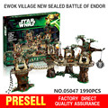 1990pcs Lepin 05047 Star Wars Ewok Village Building Blocks Juguete para Construir Bricks Toys Compatible with LEG