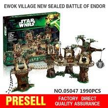 1990 stücke Lepin 05047 Star Wars Ewok Dorf Bausteine Juguete para Construir Ziegel Spielzeug Kompatibel mit BEIN