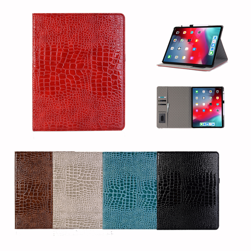 Luxury Pu Leather Flip Tablet Case On For Ipad 12.9 Inch 2019 Card Slot Stand Holder Smart Cover Wake Up Protective Wallet Case