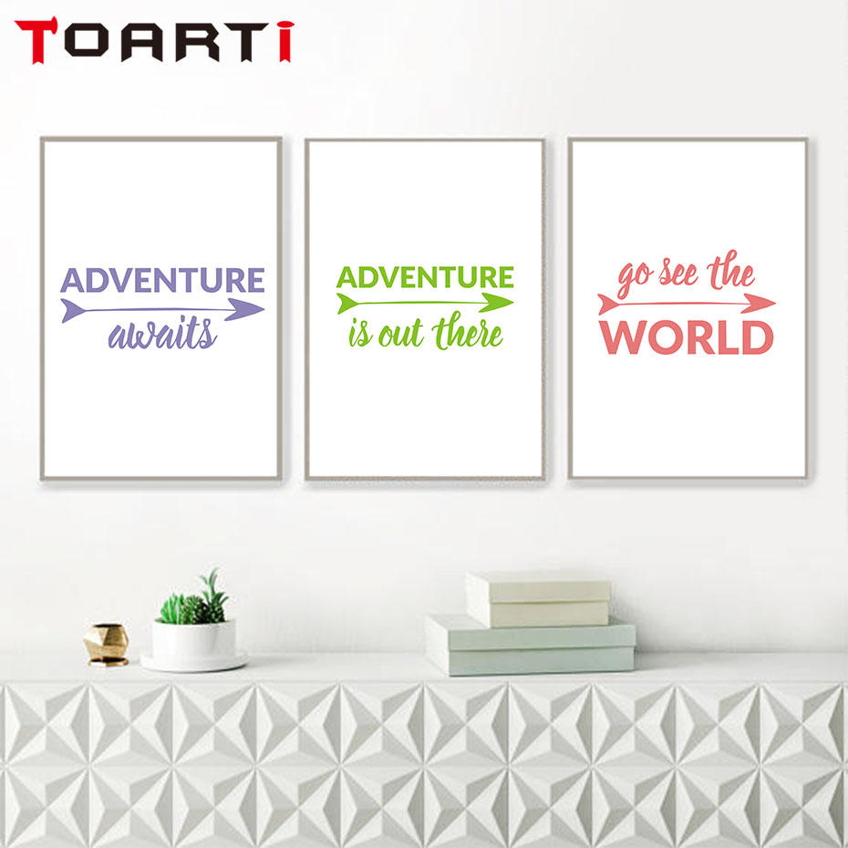 Adventure Arrows Sign Life Quotes Art Canvas Prints Painting Wall
