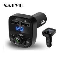 SAIYU FM Transmitter Aux Modulator Bluetooth Freisprecheinrichtung Car Audio Mp3-player mit 3.1A Quick Charge Dual USB Ladegerät