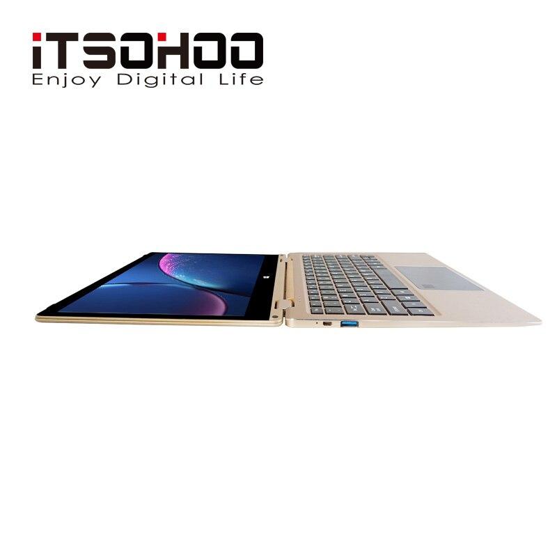 11.6 inch convertible laptops 360 degree touch screen notebook iTSOHOO 8GB RAM Metal Golden laptop fingerprint unlock computer 5