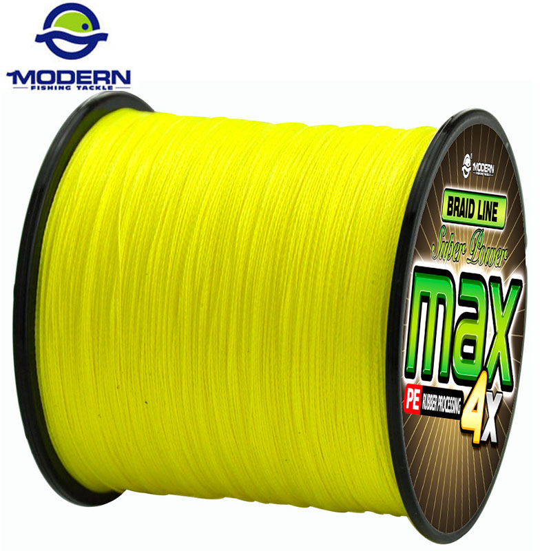 300M MODERN FISHING Brand super strong Japan multifilament PE braided fishing line 4 strands braided wires 8 10 20 30 40 60 80LB dagezi super strong 4 strand 300m 330yds 100% pe braided fishing line 10 80lb multifilament fishing line carp fishing saltwater